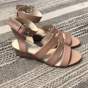 NWOT nude leather sandals